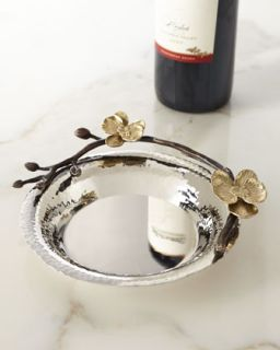 Gold Orchid Wine Coaster   Michael Aram   Red