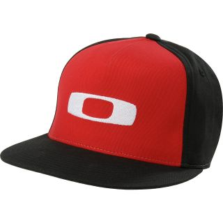 OAKLEY Square O Justable FlexFit Cap, Red Line