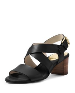 Maria Leather City Sandal   MICHAEL Michael Kors   Black (40.0B/10.0B)