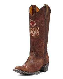 Texas State Tall Gameday Boots, Brass   Gameday Boot Company   Brass (41.0B/11.