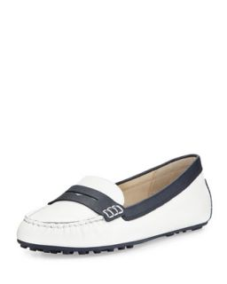 Daisy Loafer   MICHAEL Michael Kors   Optic white/Navy (35.5B/5.5B)