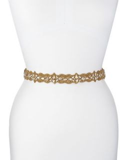Diamond Scalloped Chunky Belt, Golden