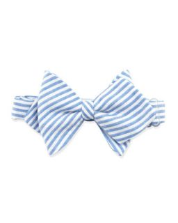 Striped Baby Bow Tie, Blue   Blue