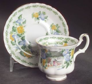 Royal Albert English Country Cottages Footed Demitasse Cup & Saucer Set, Fine Ch