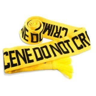 NEW Yellow Fuzz FBI DEA ATF Police Tape Scarf Line Says Crime Scene Do Not Cross: Toys & Games