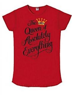 Nightshirt Says the Queen of Absolutely Everything 100% Cotton at  Women�s Clothing store