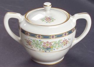 Lenox China Mystic Shape 1962 Sugar Bowl & Lid, Fine China Dinnerware   Multicol
