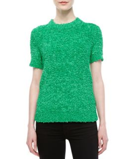 Womens Techno Boucle Knit Top   Michael Kors   Palm (MEDIUM)