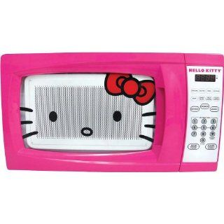 Hello Kitty MW 07009 Microwave Oven, 0.7 Cubic Feet: Kitchen & Dining