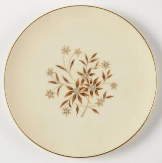 Lenox China Starlight Salad Plate, Fine China Dinnerware   Brown Flowers, Blue C