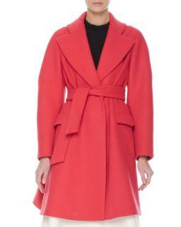 Womens Flap Pocket Robe Coat   Mantu   Red (40/4)