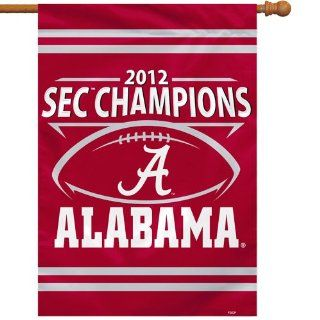 "NCAA Alabama Crimson Tide 28"" x 40"" 2012 SEC Football Champions Two Sided House Flag   Crimson () : Business Card Holders : Office Products"