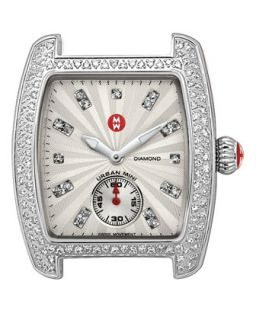 Urban Mini Diamond Watch Head   MICHELE   Silver