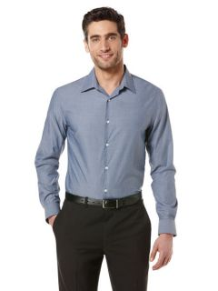 Perry Ellis Mens Long Sleeve Tight Striped Shirt