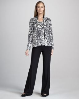Womens Animal Print Jacket, Tank & Pants Set   Black/White (MEDIUM/8 10)