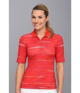 Nike Golf Multi Dot Polo Womens Short Sleeve Knit (Orange)