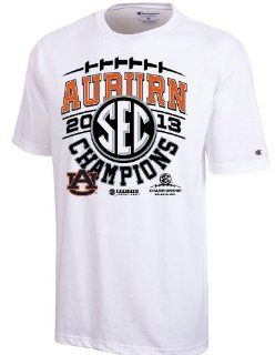 Auburn Tigers 2013 SEC Football Champions Official Locker Room T Shirt (S) : Sports & Outdoors