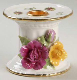 Royal Albert Old Country Roses Pillar Candleholder, Fine China Dinnerware   Mont