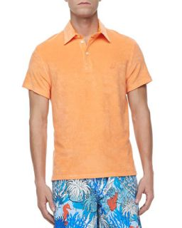Mens Terry Polo, Orange   Vilebrequin   Tangerine (MEDIUM)