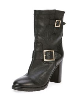 Dart Biker Buckle Bootie, Black   Jimmy Choo   Black (38.0B/8.0B)