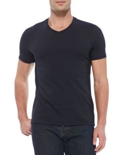 Mens V Neck Jersey Tee, Navy   Vince   Navy (XX LARGE)