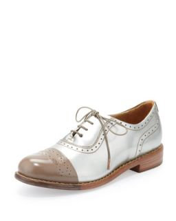 Mr. Dorchester Metallic Cap Toe Oxford, Champagne/Gold   The Office of Angela