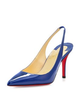 Apostrophy Red Sole Slingback Pump, Neptune   Christian Louboutin   Neptun (37.
