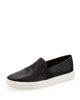 Blair 5 Perforated Slip On, Black   Vince   Black (40.0B/10.0B)