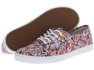 Vans Authentic Lo Pro Violet/True White) Skate Shoes (Multi)