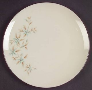 Lenox China Wyndcrest Salad Plate, Fine China Dinnerware   Blue Flowers, Taupe L
