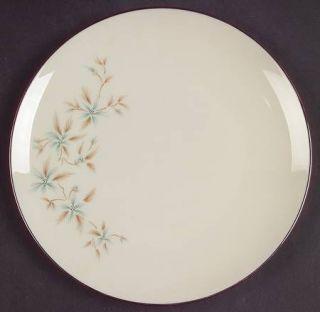 Lenox China Wyndcrest Salad Plate, Fine China Dinnerware   Blue Flowers, Taupe L