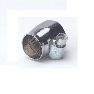Chrome Braided Hose Connector Clamp, 3/8 Inch: Automotive