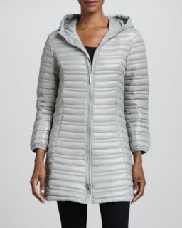 Womens Variegated Quilted Jacket with Hood   Coatology   Plum (LARGE/12 14)