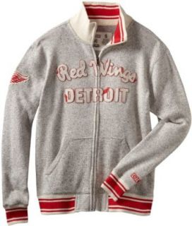 NHL Detroit Red Wings CCM Fleece Track Jacket, X Large : Sports Fan Outerwear Jackets : Clothing