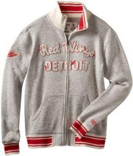 NHL Detroit Red Wings CCM Fleece Track Jacket, X Large : Sports Fan Outerwear Jackets : Clothing