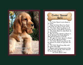 Dog Rules Cocker Spaniel Wall Decor Pet Saying Dog Saying   Decorative Plaques