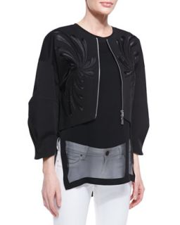 Womens Dandelion Twill Embroidered Jacket   Robert Rodriguez   Black (2)