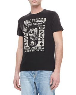 Mens Oildale Music Fest Printed Tee, Black   True Religion   Black (X LARGE)