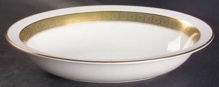 Royal Doulton Belvedere 10 Oval Vegetable Bowl, Fine China Dinnerware   Gold De