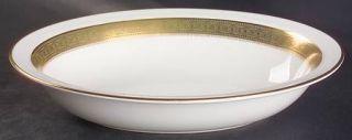 Royal Doulton Belvedere 10 Oval Vegetable Bowl, Fine China Dinnerware   Gold De