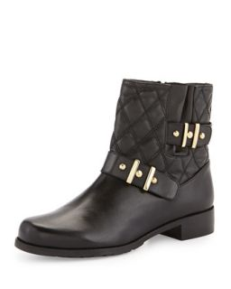 Download Quilted Ankle Boot, Black   Stuart Weitzman   Black (41.0B/11.0B)