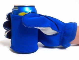 Full Neoprene Beer Koozie Glove with Built In Can or Bottle Holder NFL/SEC Team Colors (Right Hand, Blue/White) Clothing