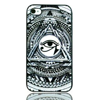 iPhone4/4S Illuminati All Seeing Eyes Hard Shell Cover Case Skin For Protection: Cell Phones & Accessories