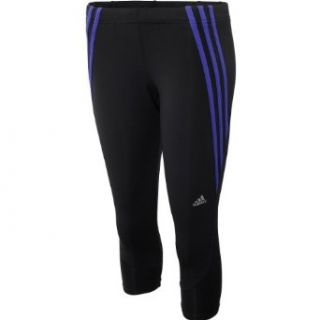 adidas Women's Questar 3/4 Running Tights   Size: Large, Black/purple: Clothing