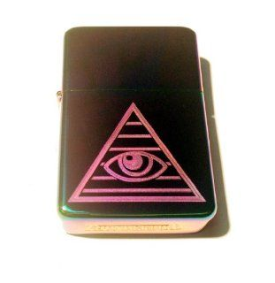 Vector KGM Thunderbird Custom Lighter   All Seeing Eye Pyramid Logo Sparkle Prism Rainbow Polish Chrome Rare!: Everything Else
