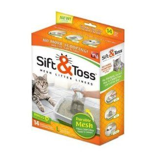 Pet As Seen On TV Sift & Toss Mesh Litter Liners(Size  X large). Disposable, Bags, Sifter Supply Store/Shop  Litter Box Liners