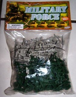 90 PLASTIC TOY SOLDIERS GREEN & GREY ARMY MEN MILITARY TOYS   SOLDIERS DESIGN ASSORTED  SENT AT RANDOM Toys & Games