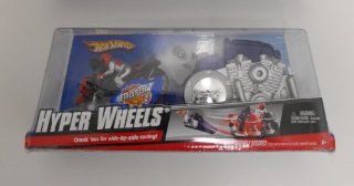 HOT WHEELS HYPER WHEELS CRANK EM FOR SIDE BY SIDE RACING MOTORCYCLE SET BY MATTEL AGES 3 (ASSORTED COLORS SENT AT RANDOM): Toys & Games