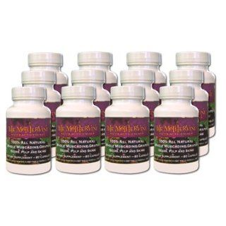 The Original 100% All Natural Whole Muscadine Grape Dietary Supplement   24 Bottles: Health & Personal Care