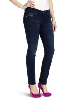 Seven7 Women's Skinny Jean Snake77 Stone, Boticli Blue, 4